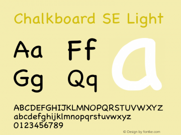 Chalkboard SE Light 13.0d1e2图片样张