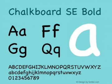 Chalkboard SE Bold 13.0d1e2图片样张