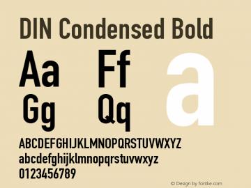 DIN Condensed Bold 13.1d2e1图片样张