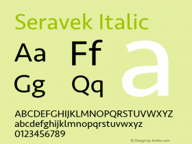 Seravek Italic 13.0d3e2图片样张