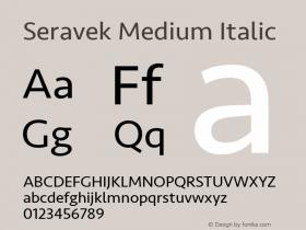 Seravek Medium Italic 13.0d3e2图片样张