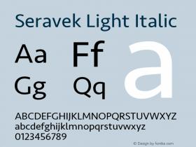 Seravek Light Italic 13.0d3e2图片样张