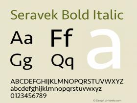 Seravek Bold Italic 13.0d3e2图片样张