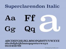 Superclarendon Italic 13.0d1e4图片样张