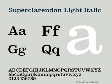 Superclarendon Light Italic 13.0d1e4图片样张