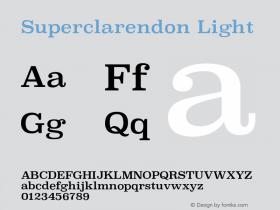 Superclarendon Light 13.0d1e4图片样张