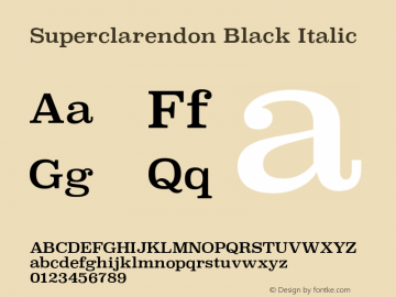 Superclarendon Black Italic 13.0d1e4图片样张