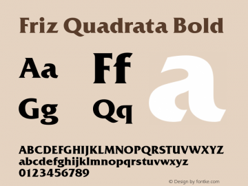 FrizQuaReg Bold Version 2.00图片样张