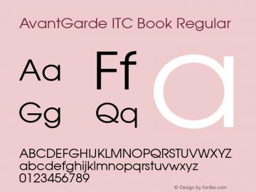 AvantGarde ITC Book Version 6.1; 2002图片样张