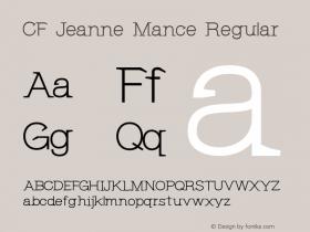 CF Jeanne Mance Regular Version 1.00 2013图片样张