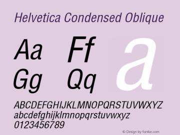 Helvetica Condensed Oblique 1999; 1.2图片样张