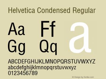 Helvetica Condensed 1999; 1.2图片样张