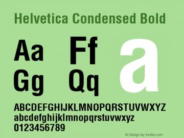 Helvetica Condensed Bold 1999; 1.2图片样张