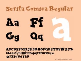 Serifa Comica Version 1.00 June 17, 2013, initial release图片样张