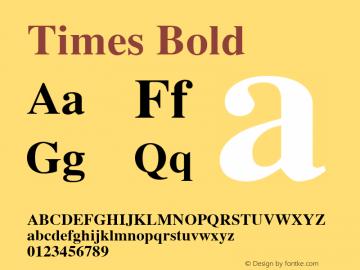 TimesBold Macromedia Fontographer 4.1.5 1/30/03图片样张