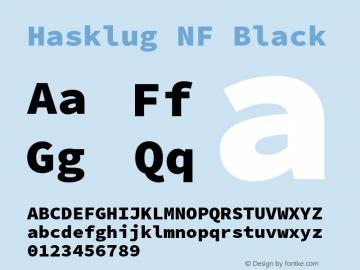 Hasklug Black Nerd Font Complete Windows Compatible Version 2.010;PS 1.0;hotconv 1.0.88;makeotf.lib2.5.647800 Font Sample