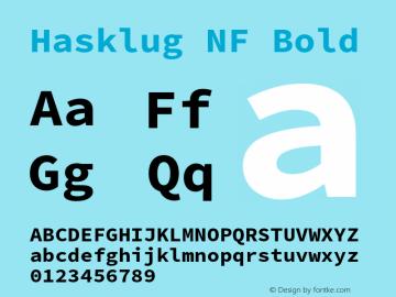 Hasklug Bold Nerd Font Complete Windows Compatible Version 2.010;PS 1.0;hotconv 1.0.88;makeotf.lib2.5.647800 Font Sample