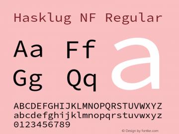 Hasklug Nerd Font Complete Windows Compatible Version 2.010;PS 1.0;hotconv 1.0.88;makeotf.lib2.5.647800 Font Sample