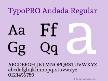 TypoPRO Andada Version 1.003图片样张