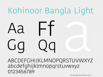 Kohinoor Bangla Light 13.0d2e1图片样张