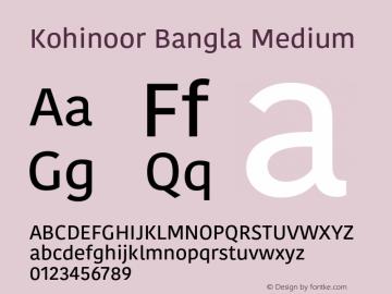 Kohinoor Bangla Medium 13.0d2e1图片样张