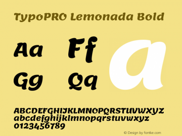 TypoPRO Lemonada Bold Version 3.006;PS 003.006;hotconv 1.0.88;makeotf.lib2.5.64775图片样张