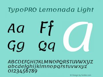 TypoPRO Lemonada Light Version 3.006;PS 003.006;hotconv 1.0.88;makeotf.lib2.5.64775图片样张