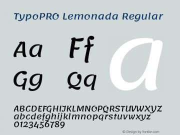 TypoPRO Lemonada-Regular Version 3.006;PS 003.006;hotconv 1.0.88;makeotf.lib2.5.64775图片样张