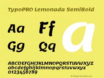 TypoPRO Lemonada SemiBold Version 3.006;PS 003.006;hotconv 1.0.88;makeotf.lib2.5.64775图片样张