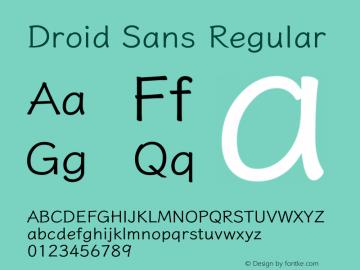 Droid Sans Version 1.00图片样张