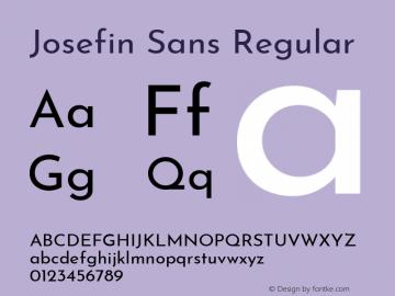 Josefin Sans Regular Version 2.000图片样张