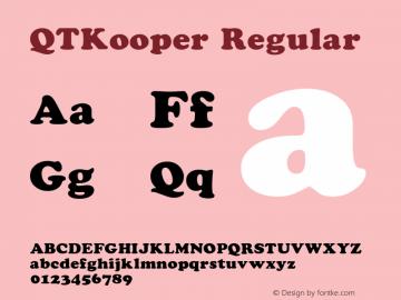 QTKooper Regular QualiType TrueType font  9/18/92图片样张