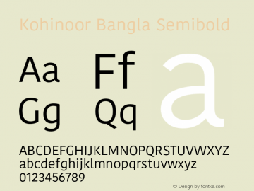 Kohinoor Bangla Semibold 13.0d2e1图片样张