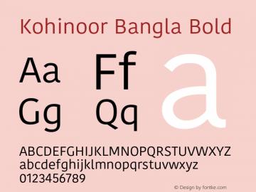 Kohinoor Bangla Bold 13.0d2e1图片样张