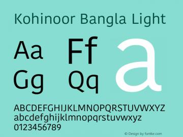 Kohinoor Bangla Light 13.0d2e1图片样张