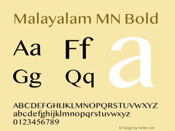Malayalam MN Bold 13.0d2e3图片样张