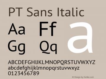 PT Sans Italic 13.0d3e2图片样张