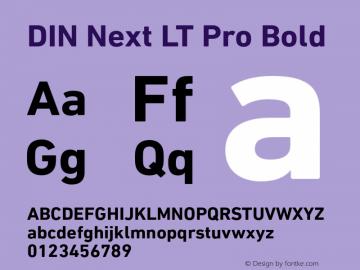 DINNextLTPro-Bold Version 1.10图片样张