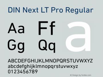 DINNextLTPro-Regular Version 1.10图片样张