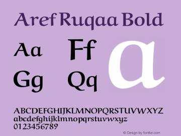 Aref Ruqaa Bold Version 0.8图片样张