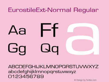 EurostileExt-Normal Converted from D:\NYFONT\ST000260.TF1 by ALLTYPE图片样张