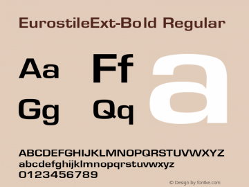 EurostileExt-Bold Converted from D:\NYFONT\ST000235.TF1 by ALLTYPE图片样张
