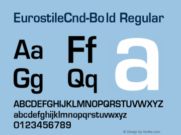 EurostileCnd-Bold Converted from D:\NYFONT\ST000233.TF1 by ALLTYPE图片样张
