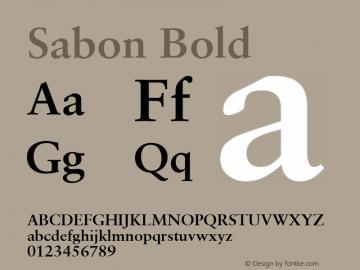 Sabon Bold V.1.0图片样张