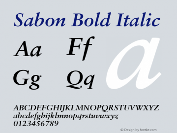 Sabon Bold Italic V.1.0图片样张