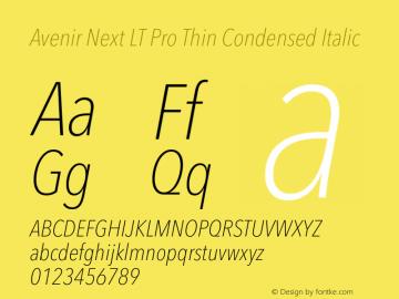 Avenir Next Lt Pro Font Avenir Next Lt Pro Thin Condensed Italic