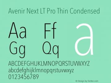 Avenir Next Lt Pro Font Avenir Next Lt Pro Thin Condensed Font