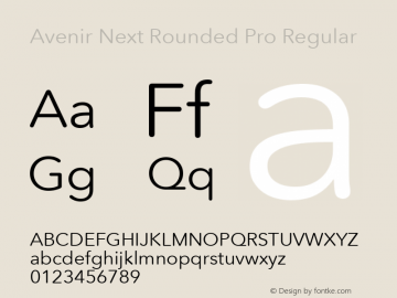 Avenir Next Rounded Pro Regular Version 2.00图片样张