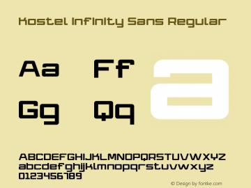 Kostel Infinity Sans Version 1.012 July 8, 2012图片样张