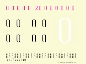号码章字体2 图片样张